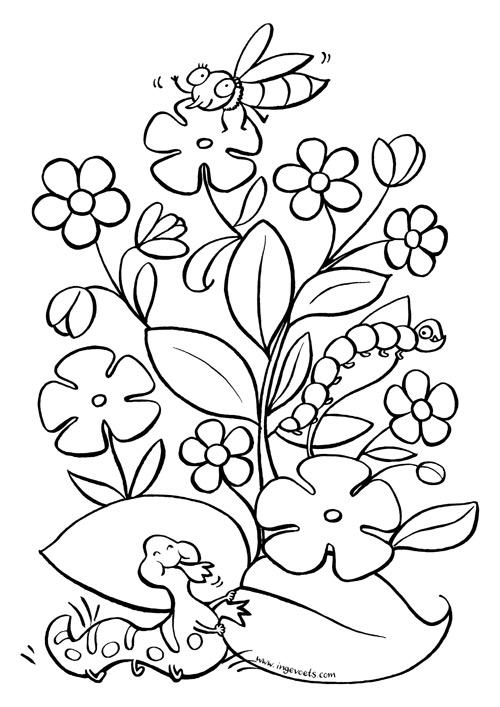 Gratis Kleuplaat Pasen Door Illustratrice Inge Voets